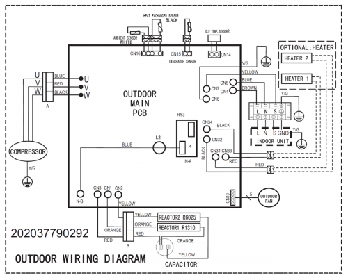 wiring diagram for ductless mini split